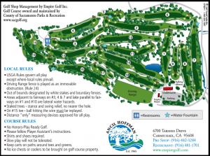 Ancil Hoffman Golf Course Course Layout